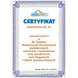 certyfikat III Tyskie Warsztaty Serwisowe