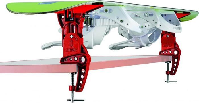 mocowanie deski snowboardowej za pomoca adapteru SWIX