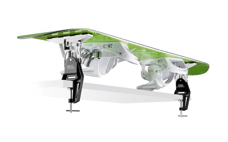 mocowanie deski snowboardowej za pomocą Bravo Support SKI MAN